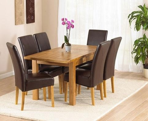 Innovative Decoration Dining Table 6 Chairs Staggering Oak Dining With Most Popular Oak Dining Tables And Leather Chairs (Image 12 of 20)