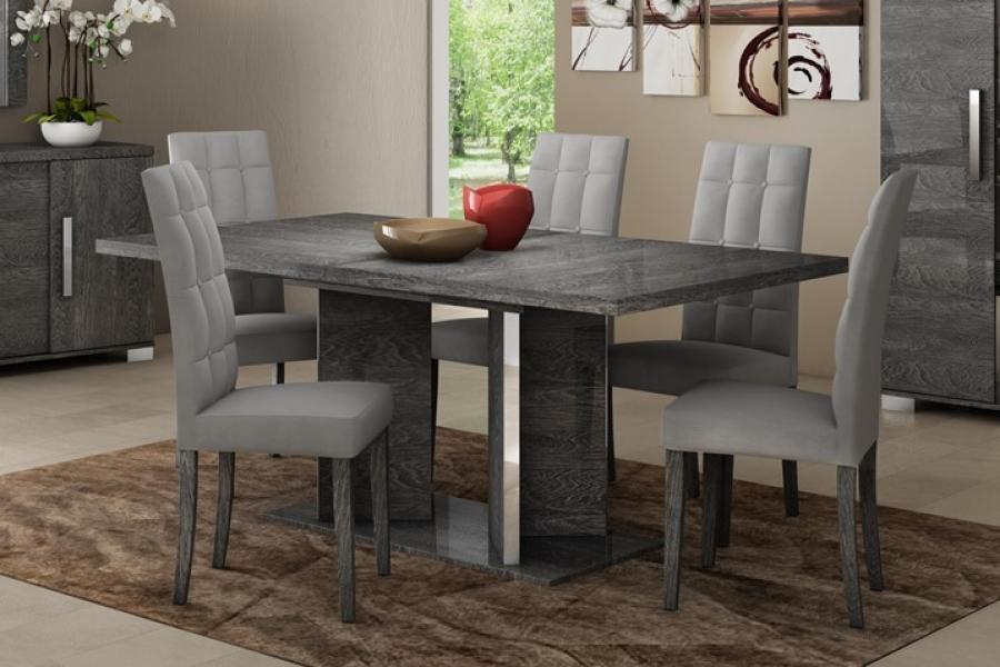 Innovative Decoration Grey Dining Table Stylish And Peaceful Grey Within Newest Extending Dining Room Tables And Chairs (Image 14 of 20)