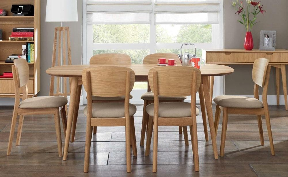 Innovative Ideas 6 Seater Dining Table Enjoyable Design Seater Intended For Current Oak Dining Set 6 Chairs (Image 12 of 20)