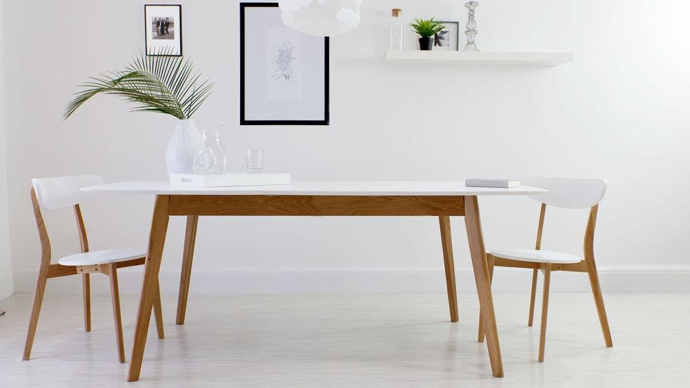 Innovative Ideas White Extendable Dining Table Shocking Solid Oak With Regard To Most Current Small White Extending Dining Tables (Image 10 of 20)