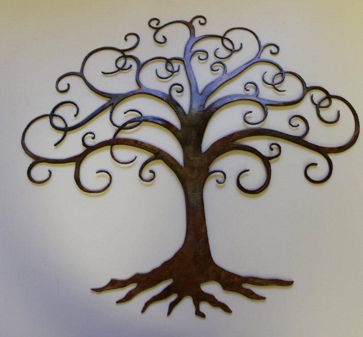 Innovative Large Metal Tree Wall Decoration 128 Oak Tree Large Throughout Oak Tree Large Metal Wall Art (Image 7 of 20)