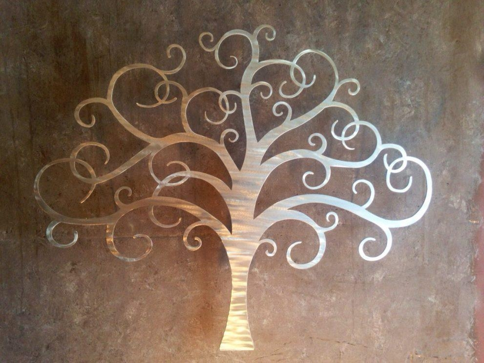 Innovative Large Metal Tree Wall Decoration 128 Oak Tree Large With Regard To Oak Tree Large Metal Wall Art (Image 8 of 20)