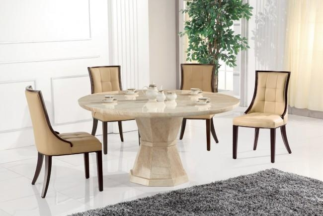 Innovative Round Marble Dining Table And Round Marble Dining Table In Current Marble Dining Chairs (Photo 9 of 20)