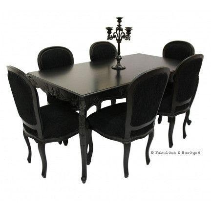 Inspiring Black Dining Table And Chairs With 25 Best Ideas About Regarding Best And Newest Black Dining Tables (Photo 16 of 20)