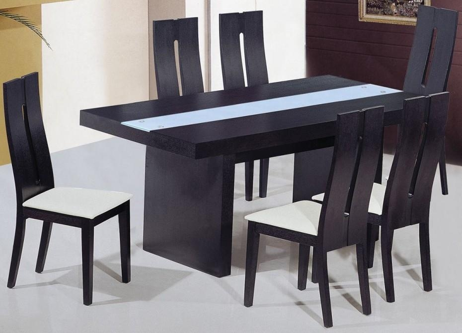 Inspiring Black Dining Tables With Black Wood Dining Table Intended For Recent Wooden Dining Sets (View 13 of 20)