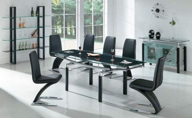 Inspiring Black Extending Dining Table And Chairs 50 With With Most Recent Black Extendable Dining Tables Sets (Image 16 of 20)
