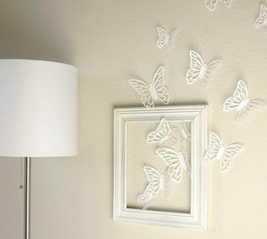 Inspiring Butterfly Wall Art Design Ideas | Home Interior & Exterior With White Metal Butterfly Wall Art (Image 11 of 20)