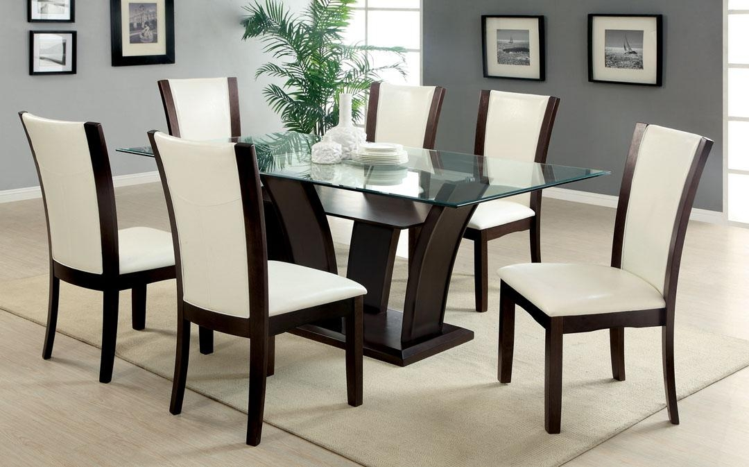 Inspiring Dark Wood Dining Table And 6 Chairs 70 In Dining Room Intended For Latest Dark Wood Dining Tables 6 Chairs (Image 14 of 20)