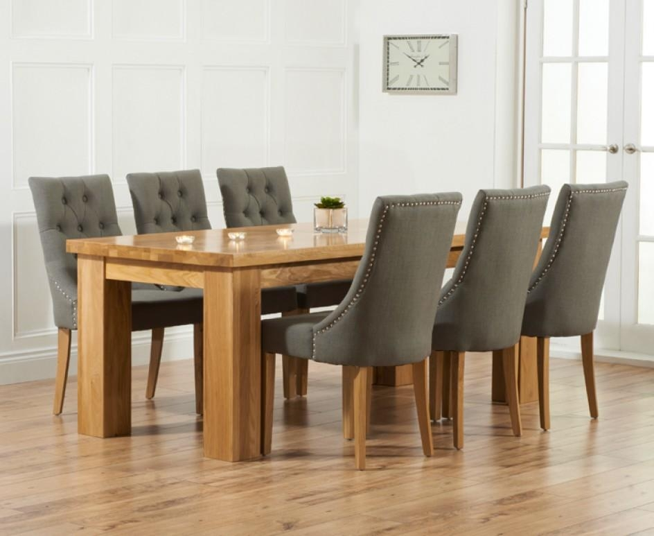 Inspiring Oak Dining Table And Fabric Chairs 11 In Old Dining Room Regarding Best And Newest Oak Dining Tables And Fabric Chairs (Image 13 of 20)