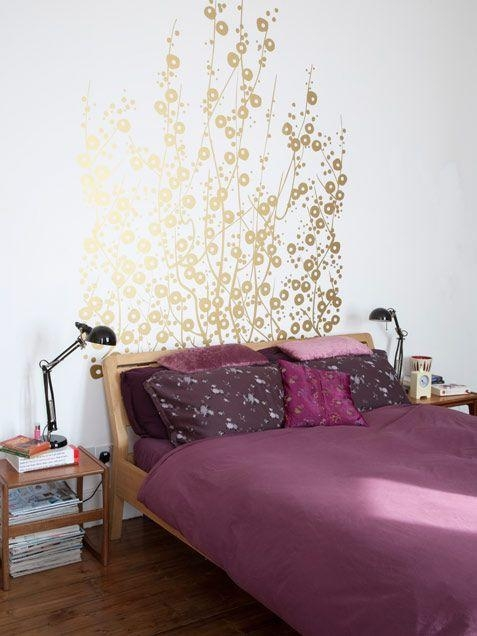 Instant Opulence With Gold Decals | Crazy Sexy Cool Within Gold Wall Art Stickers (Image 15 of 20)