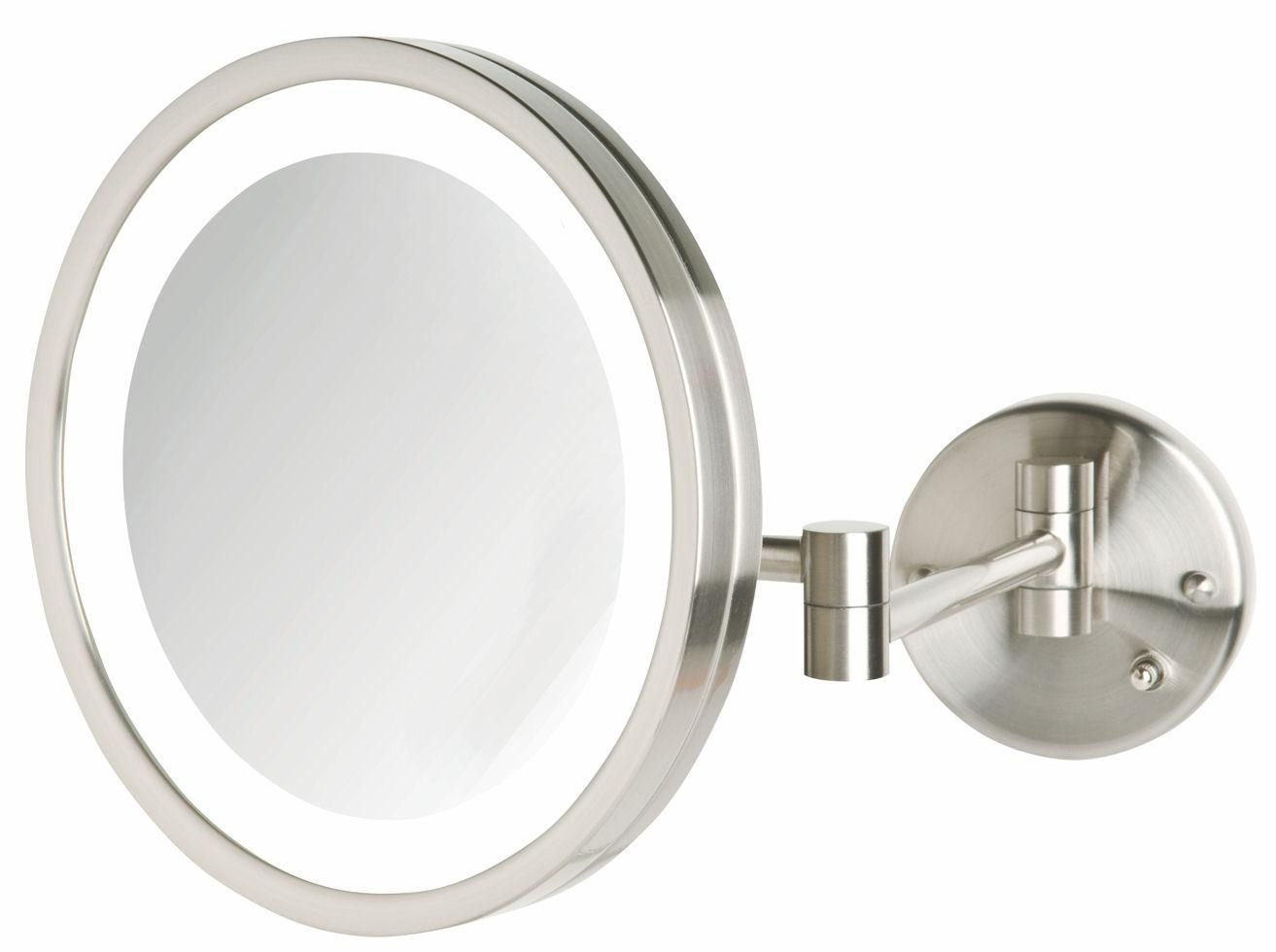 Interesting Decoration Lighted Vanity Mirror Wall Mount Nice Ideas For Wall Mounted Lighted Makeup Mirrors (Image 6 of 20)
