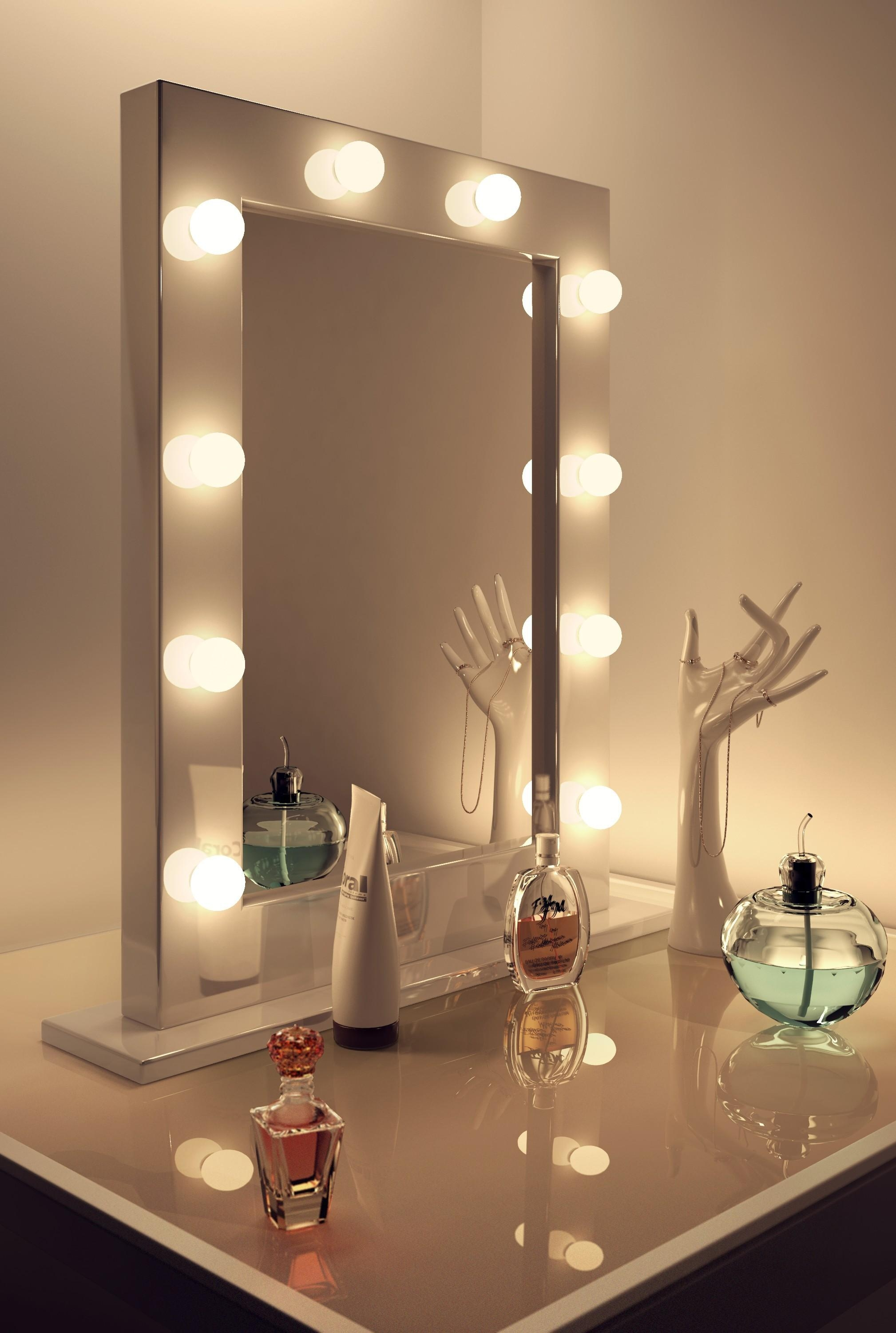 Interesting Ideas Wall Vanity Mirror Merry Modern Lighted Makeup Inside Lighted Vanity Wall Mirrors (Image 9 of 20)