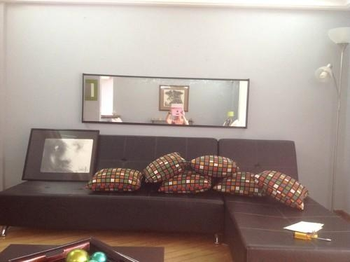 Is The Mirror Above The Couch Too Low? Within Mirror Above Sofas (Image 8 of 20)