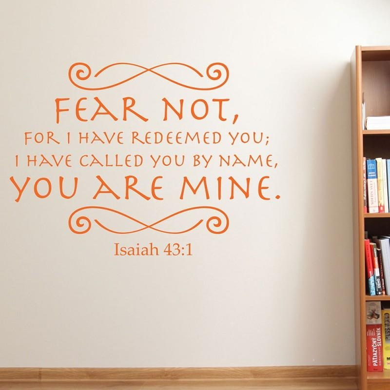 Isaiah 43:1 Scripture Vinyl Wall Art | Divine Walls Regarding Scripture Vinyl Wall Art (View 16 of 20)
