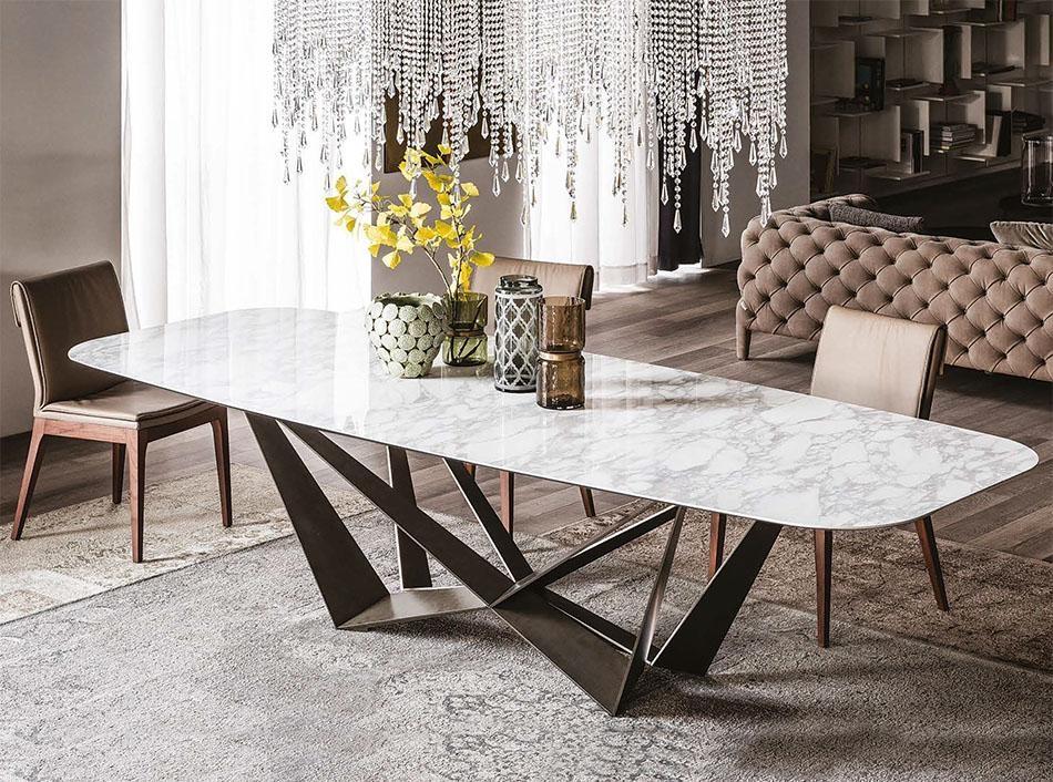 Italia Skorpio Keramik Italian Dining Table Regarding Most Recently Released Italian Dining Tables (View 4 of 20)