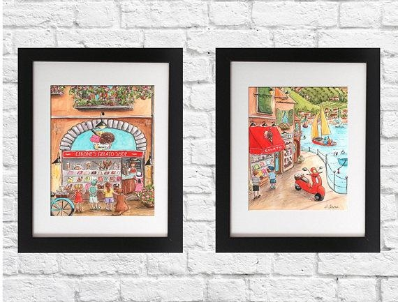 Italian Baby Nursery Or Red Italian Kitchen Wall Art Set Of Inside Italian Nursery Wall Art (Image 9 of 20)