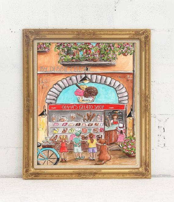 Italian Baby Nursery Or Red Italian Kitchen Wall Art Set Of With Regard To Italian Nursery Wall Art (Image 12 of 20)