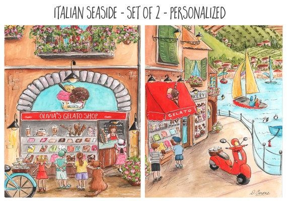 Italian Baby Nursery Or Red Italian Kitchen Wall Art Set Of Within Italian Nursery Wall Art (View 7 of 20)