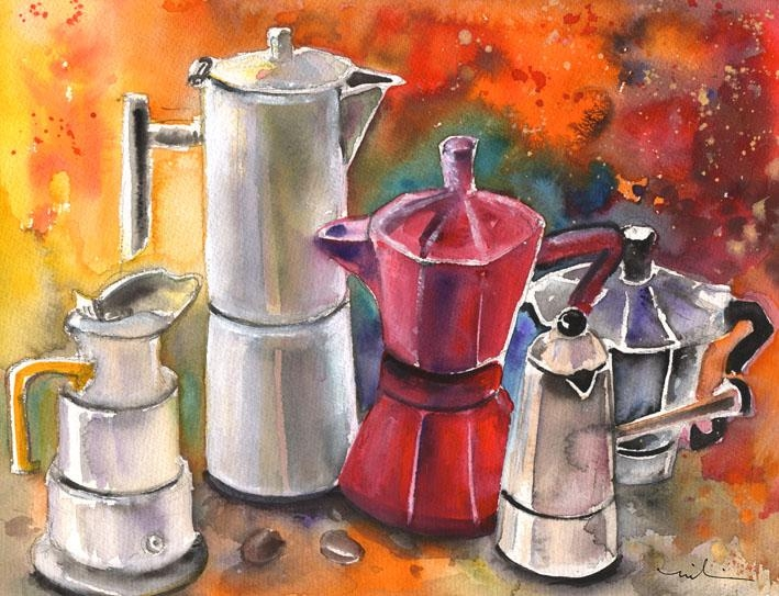 Italian Coffee Party – Watercolour Paintingmiki De Goodaboom For Italian Coffee Wall Art (Image 11 of 20)
