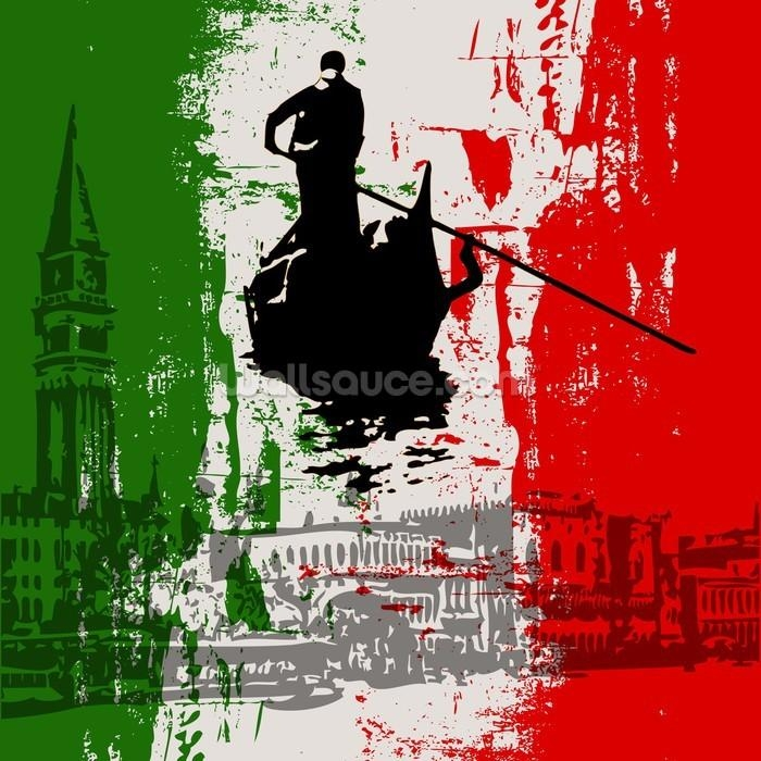 Italian Flag Abstract Wallpaper Wall Mural | Wallsauce Europe For Italian Flag Wall Art (Image 10 of 20)