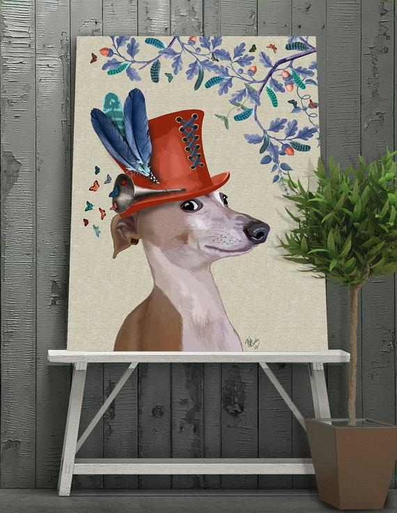 Italian Greyhound Art Milliners Dog Italian Greyhound Throughout Italian Greyhound Wall Art (View 8 of 20)