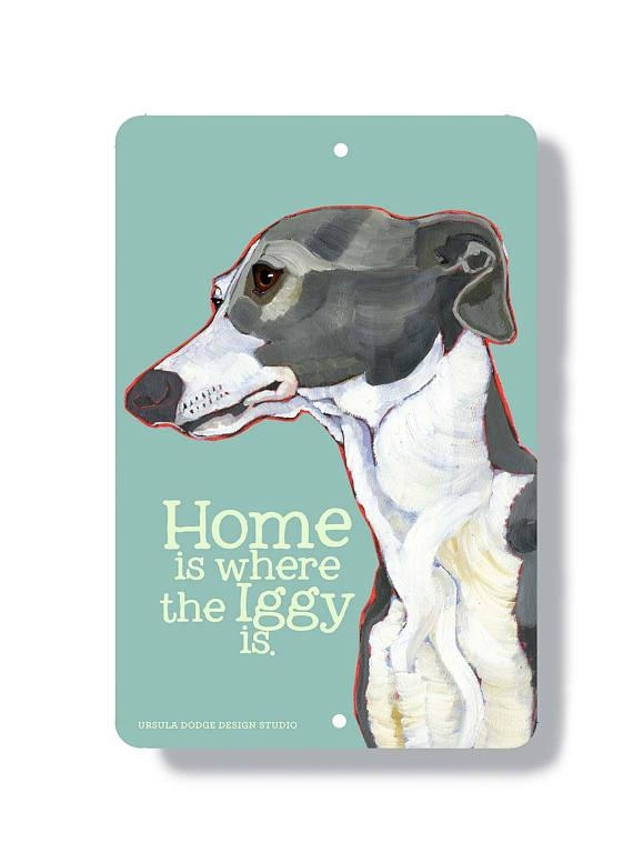 Italian Greyhound Wall Art Metal Sign Indoor Outdoor Home With Regard To Italian Greyhound Wall Art (View 4 of 20)