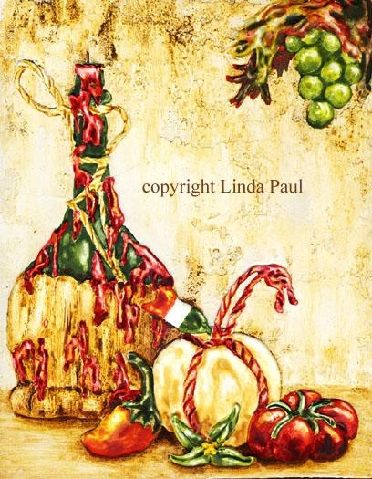 Italian Kitchen Art Print On Canvas – Tuscan Kitchen Wall Decor Within Italian Wall Art For The Kitchen (Photo 7 of 20)