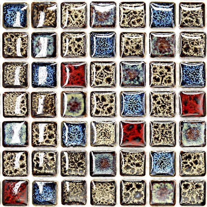 Italian Porcelain Tile Backsplash Bathroom Walls Glazed Ceramic Gm02 Within Italian Mosaic Wall Art (Image 11 of 20)