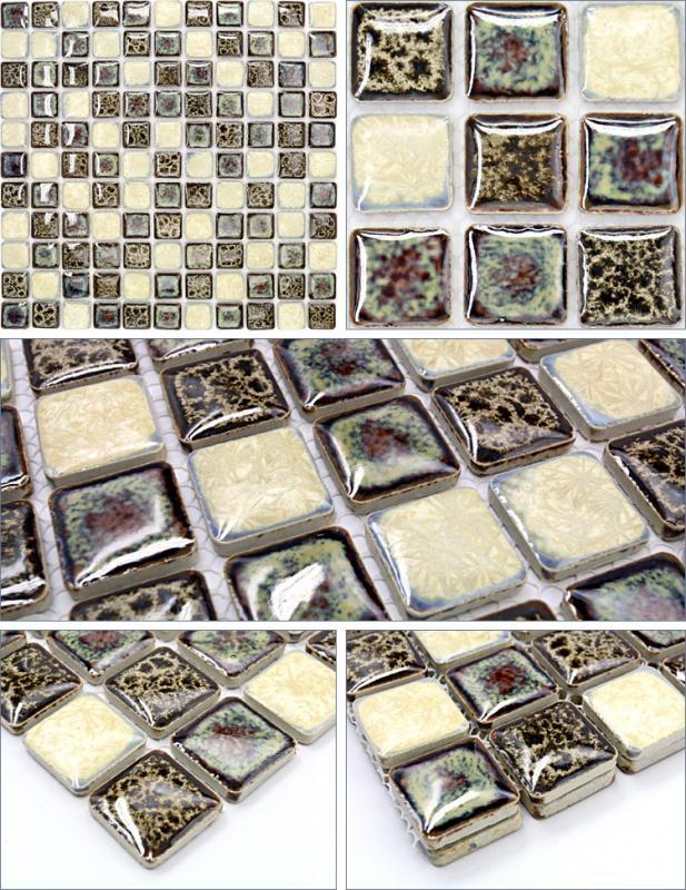 Italian Porcelain Tile Backsplash Bathroom Walls Glazed Ceramic Gm16 Within Italian Mosaic Wall Art (Photo 15 of 20)