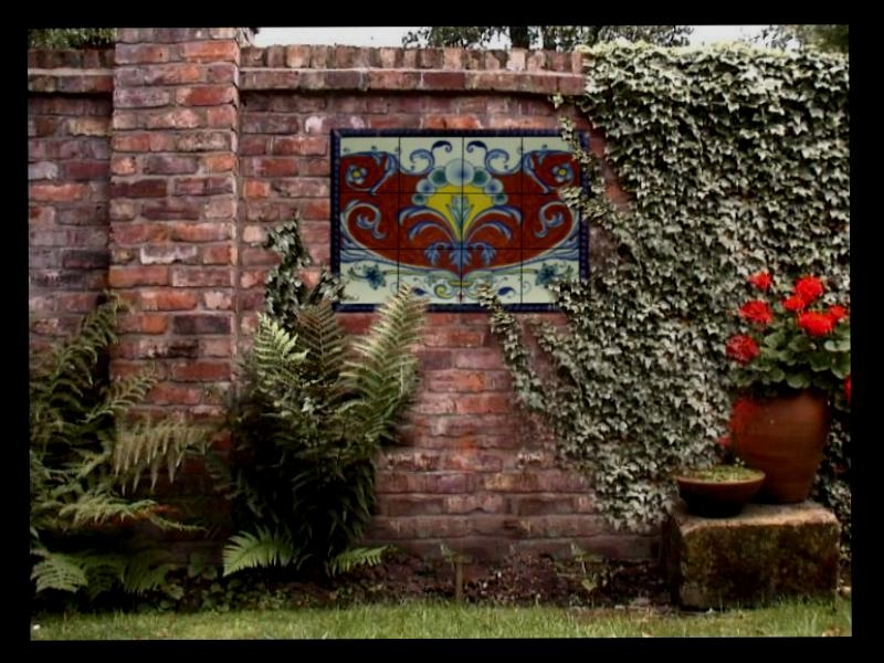 Italian Renaissance', One Of A Kind, Hand Painted Ceramic Art Within Italian Garden Wall Art (Image 18 of 20)