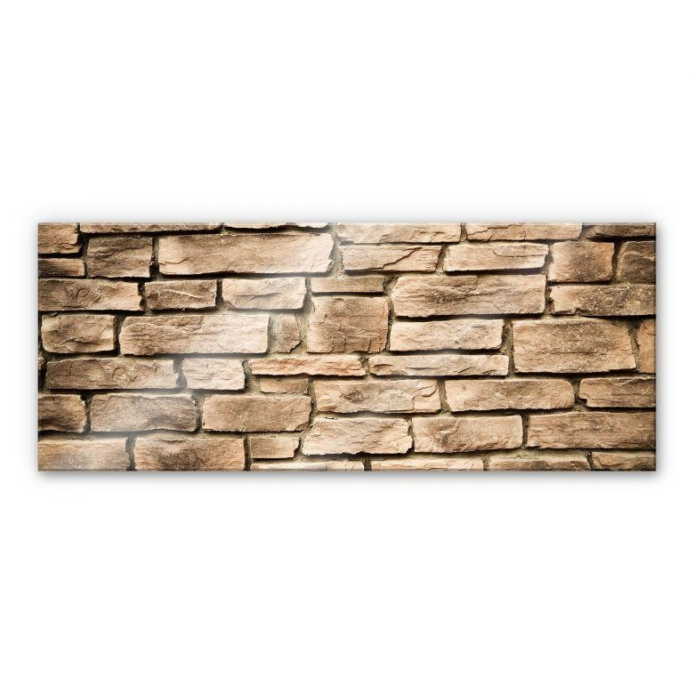 Italian Stone Wall – Panorama – – Wall Art Intended For Italian Stone Wall Art (Image 17 of 20)