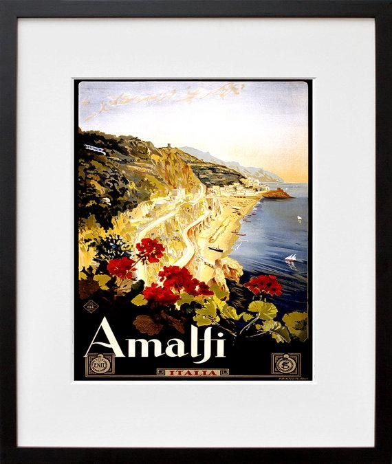 Italian Travel Poster Italy Wall Art Print Zt283 Inside Italian Travel Wall Art (Image 15 of 20)
