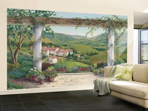 Italian Villa Small Huge Mural Art Print Poster Wall Mural At Intended For Italian Villa Wall Art (Image 16 of 20)