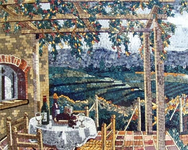 Italian Village Natural View Mosaic Tile From Lebanon For Italian Village Wall Art (Image 12 of 20)