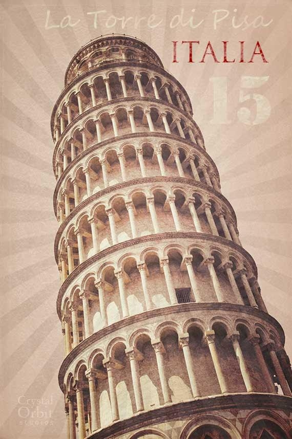 Italy Art Italy Poster Leaning Tower Of Pisa Modern Art Regarding Italian Wall Art (Image 6 of 20)