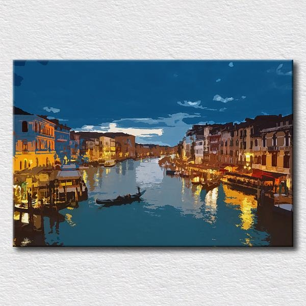 Italy City Canvas Pictures Oil Painting Modern Canvas Art City With Regard To Italian Scenery Wall Art (Photo 1 of 20)