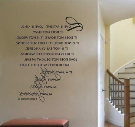 Items Similar To Wall Decal Love Is Patient Love Is Kind Scripture Within Love Is Patient Love Is Kind Wall Art (Image 10 of 20)