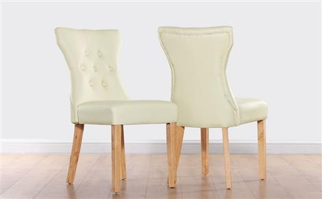 Ivory And Cream Leather Dining Chairs | Furniture Choice Inside Cream Leather Dining Chairs (Image 15 of 20)