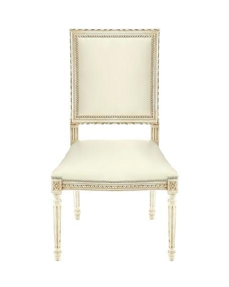 Ivory Real Leather Dining Chairs Cream Canada Faux Parson 407E5Fd For Latest Cream Faux Leather Dining Chairs (Image 12 of 20)