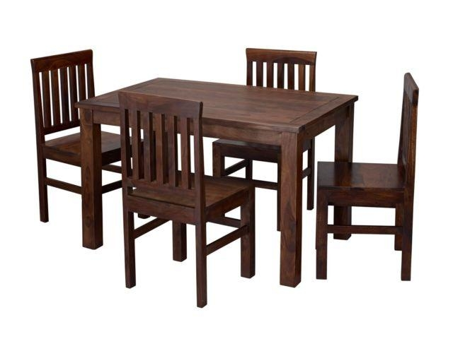 Jaipur Dining Table With 4 Chairs – Sheesham Wood | Ebay Throughout Most Recently Released Sheesham Dining Tables And 4 Chairs (Image 9 of 20)