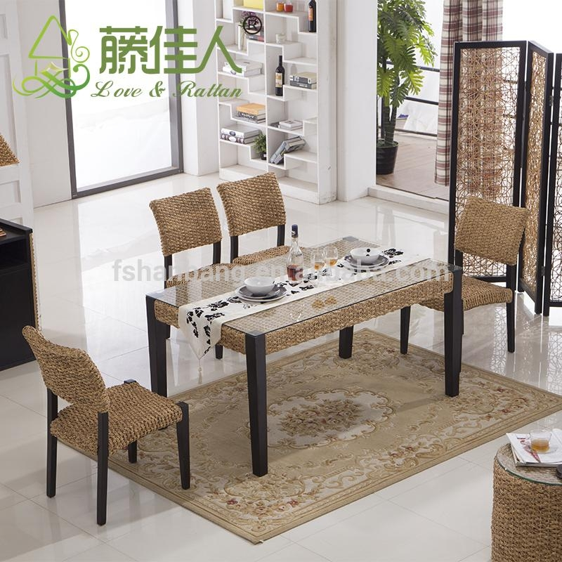 Java Home Living Sunroom Natural Rattan Water Hyacinth Bamboo With 2018 Bali Dining Sets (Image 16 of 20)