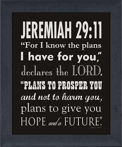 Jeremiah 29:11 – Framed Canvas Art Intended For Jeremiah 29 11 Wall Art (Image 7 of 20)