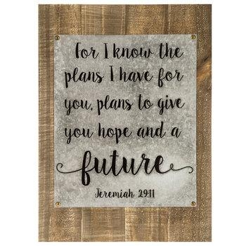 Jeremiah 29:11 Galvanized Wood Wall Decor | Hobby Lobby | 1280742 Regarding Jeremiah 29 11 Wall Art (Image 9 of 20)