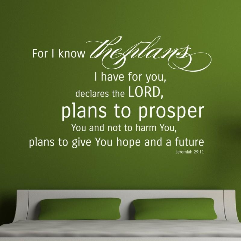 Jeremiah 29:11 Scripture Art | For I Know The Plans…hope And Future With Regard To Jeremiah 29 11 Wall Art (Image 10 of 20)