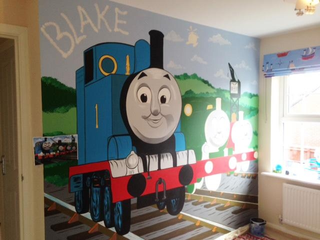 Joanna Perry – Top Mural Artist, Hand Painting Murals Across The Pertaining To Thomas The Tank Wall Art (Image 5 of 20)