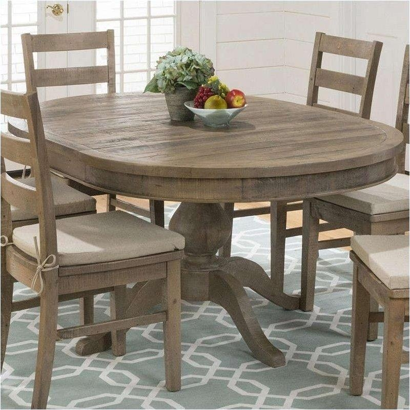 Jofran 941 Series Oval Dining Table In Slater Mill Pine – 941 66T With Regard To Most Recent Oval Extending Dining Tables And Chairs (Image 11 of 20)