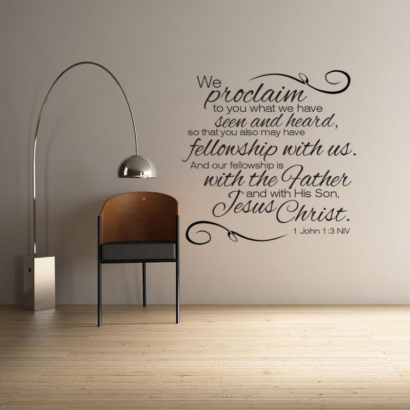 John 1:3 Scripture Wall Art | Divine Walls Pertaining To Biblical Wall Art (Image 13 of 20)