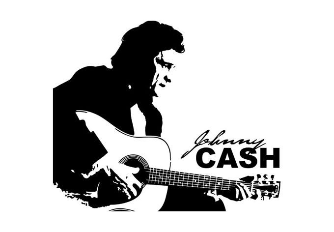 Johnny Cash Wall Sticker – Wall Art Within Johnny Cash Wall Art (Image 16 of 20)