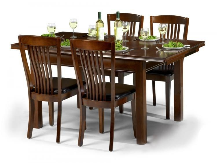 Julian Bowen – Canterbury Extending Dining Table With 4 Or 6 In 2018 Mahogany Dining Tables And 4 Chairs (View 1 of 20)