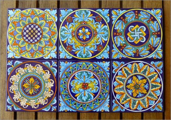 Just Added! Eugenio's Geometric Tiles – Thatsarte Italian Within Italian Wall Art Tiles (Photo 4 of 20)